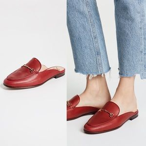 Sam Edelman Red Leather Bit Loafers Size 10